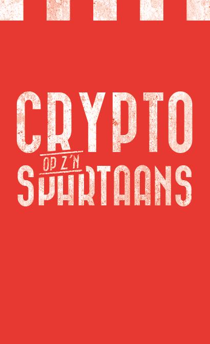 Crypto op z'n Spartaans
